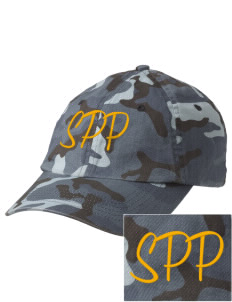 St Patrick Parish Walnut Embroidered Camouflage Cotton Cap