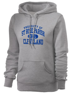 St Rose Parish Cleveland Russell Women's Pro Cotton Fleece Hooded Sweatshirt