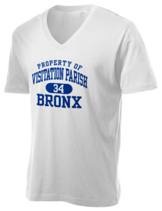 Visitation Parish Bronx Alternative Men's 3.7 oz Basic V-Neck T-Shirt