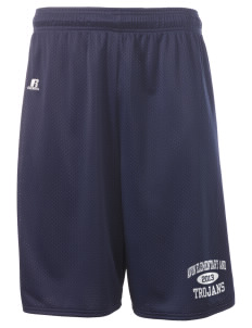 "Avon Elementary And Middle School Trojans  Russell Deluxe Mesh Shorts, 10"" Inseam"