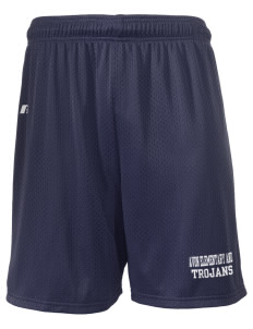 "Avon Elementary And Middle School Trojans  Russell Men's Mesh Shorts, 7"" Inseam"