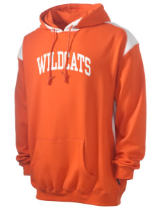 State University of New York Utica Wildcats Men's Pullover Hooded Sweatshirt with Contrast Color