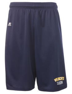 "State University of New York Utica Wildcats  Russell Deluxe Mesh Shorts, 10"" Inseam"