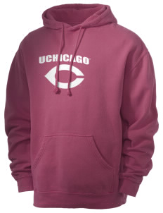 The University of Chicago Maroons Men's 80/20 Pigment Dyed Hooded Sweatshirt