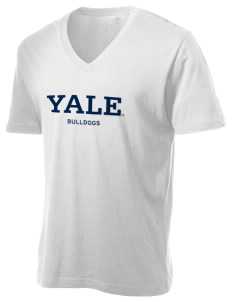 Yale University Bulldogs Alternative Men's 3.7 oz Basic V-Neck T-Shirt