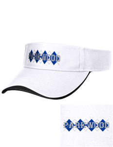 Parkwood Elementary School Panthers Embroidered Binding Visor
