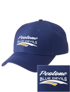 Peotone High School Blue Devils  Embroidered New Era Adjustable Structured Cap