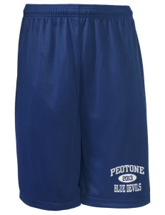 "Peotone High School Blue Devils Long Mesh Shorts, 9"" Inseam"