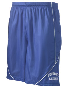 "Peotone High School Blue Devils Men's Pocicharge Mesh Reversible Short, 9"" Inseam"
