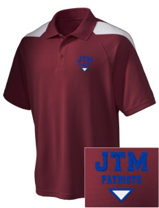Justice Thurgood Marshall Middle School Patriots Embroidered Holloway Men's Frequency Performance Pique Polo