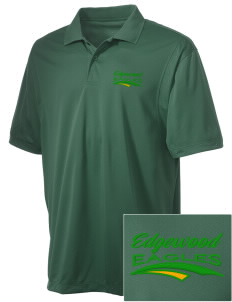 Edgewood Elementary School Eagles Embroidered Men's Micro Pique Polo