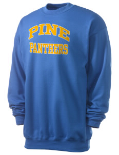 Pine Elementary School Panthers Men's 7.8 oz Lightweight Crewneck Sweatshirt