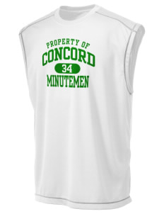 Concord High School Minutemen Champion Men's 4.1 oz Double Dry Odor Resistance Muscle T-Shirt
