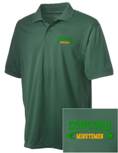 Concord High School Minutemen Embroidered Men's Micro Pique Polo