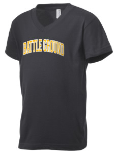 Battle Ground Middle School Tomahawks Kid's V-Neck Jersey T-Shirt