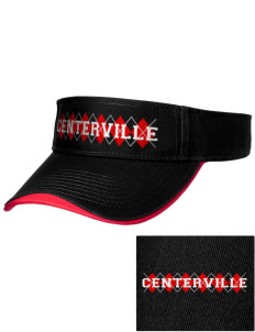 Centerville High School Big Reds Embroidered Binding Visor