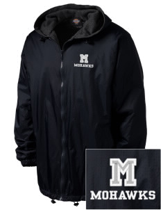 Moravia Elementary School Mohawks Embroidered Dickies Men's Fleece-Lined Hooded Jacket