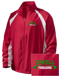 Lowell Elementary School Toreadors  Embroidered Men's Full Zip Warm Up Jacket
