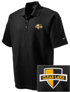 Clear Lake High School Lions Embroidered Nike Men's Dri-FIT Pique II Golf Polo
