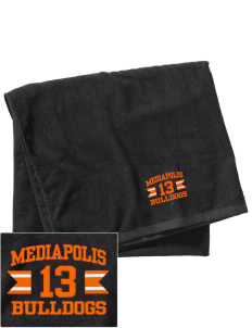 Mediapolis Middle School Bulldogs Embroidered Beach Towel