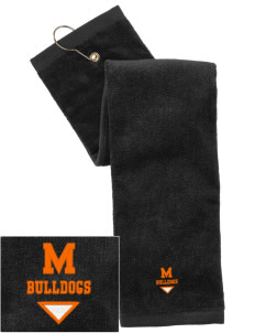 Mediapolis Middle School Bulldogs Embroidered Hand Towel with Grommet