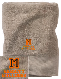 Mediapolis Middle School Bulldogs Embroidered Zero Twist Resort Towel