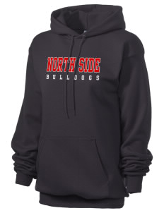 North Side Elementary School Bulldogs Unisex 7.8 oz Lightweight Hooded Sweatshirt
