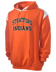 Stratford Community School Lynx Men's Pullover Hooded Sweatshirt with Contrast Color