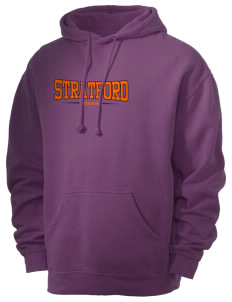 Stratford Community School Lynx Men's 80/20 Pigment Dyed Hooded Sweatshirt