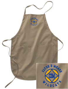 Clyde D Mease Elementary School Wildcats Embroidered Full Length Apron