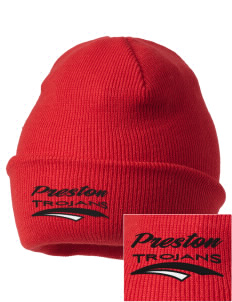 Preston High School Trojans Embroidered Knit Cap