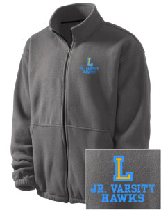 Lynnville-Sully Elementary School Hawks Embroidered Men's Fleece Jacket