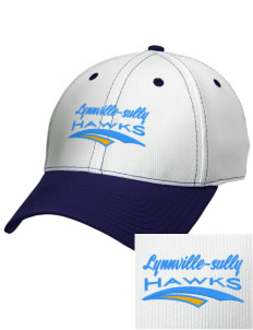 Lynnville-Sully Elementary School Hawks Embroidered New Era Snapback Performance Mesh Contrast Bill Cap