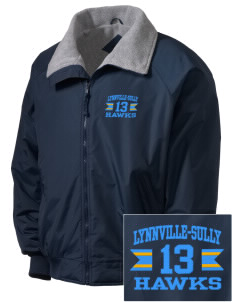 Lynnville-Sully Elementary School Hawks Embroidered Men's Fleece-Lined Jacket
