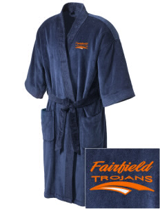 Fairfield Senior High School Trojans Embroidered Terry Velour Robe