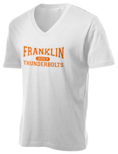 Franklin Middle School Thunderbolts Alternative Men's 3.7 oz Basic V-Neck T-Shirt