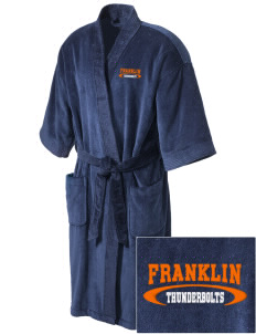 Franklin Middle School Thunderbolts Embroidered Terry Velour Robe