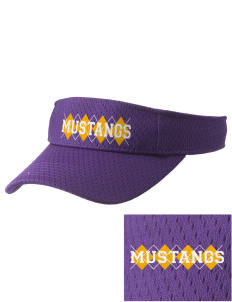 Ferguson Elementary School Mustangs Embroidered Woven Cotton Visor