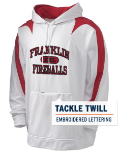Franklin Elementary School Fireballs Holloway Men's Sports Fleece Hooded Sweatshirt with Tackle Twill