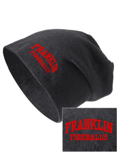 Franklin Elementary School Fireballs Embroidered Slouch Beanie