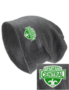 Central Elementary School Spartans Embroidered Slouch Beanie