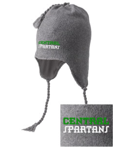 Central Elementary School Spartans Embroidered Knit Hat with Earflaps