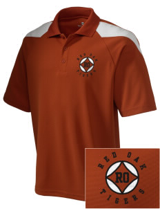 Red Oak Middle School Tigers Embroidered Holloway Men's Frequency Performance Pique Polo