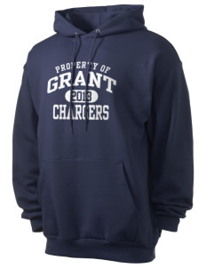 Grant Elementary School Chargers Men's 7.8 oz Lightweight Hooded Sweatshirt
