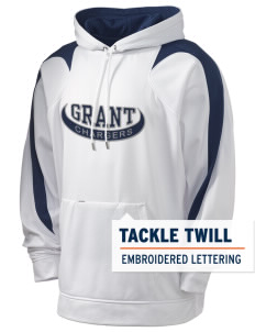 Grant Elementary School Chargers Holloway Men's Sports Fleece Hooded Sweatshirt with Tackle Twill