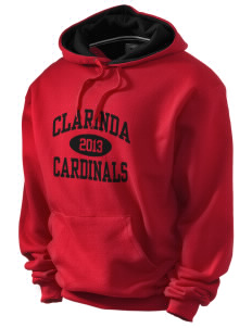 Clarinda Senior High School Cardinals Champion Men's Hooded Sweatshirt