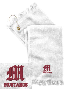 Shenandoah Elementary School Mustangs  Embroidered Grommeted Finger Tip Towel