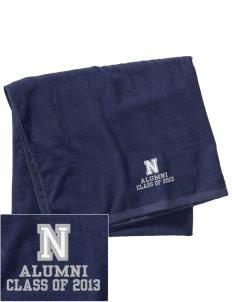 Newell-Fonda Middle School Mustangs Embroidered Beach Towel