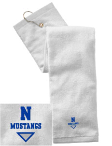 Newell-Fonda Middle School Mustangs Embroidered Hand Towel with Grommet