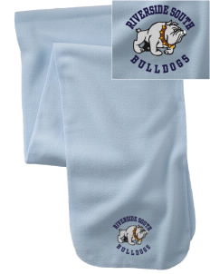 Riverside South Elementary School Bulldogs  Embroidered Extra Long Fleece Scarf